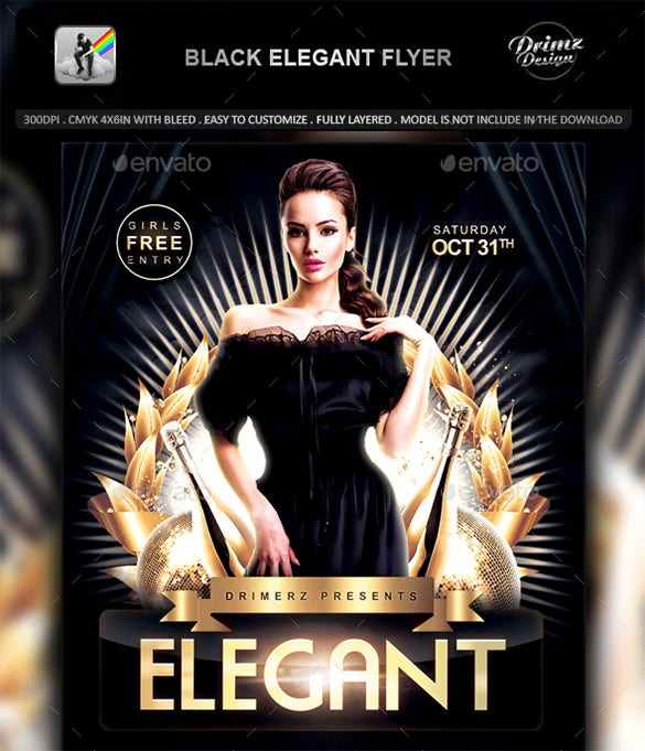 black elegant flyer