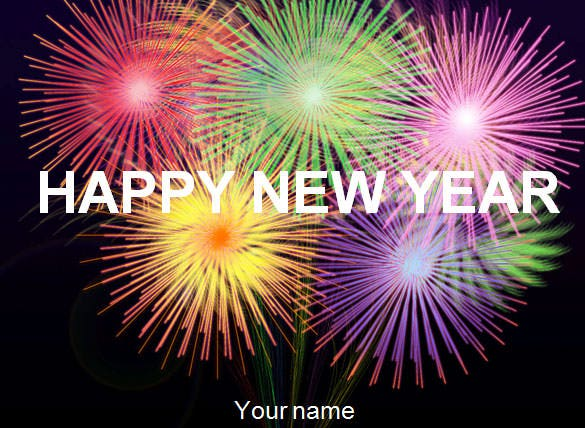 Happy new year powerpoint template toneelgroepblik