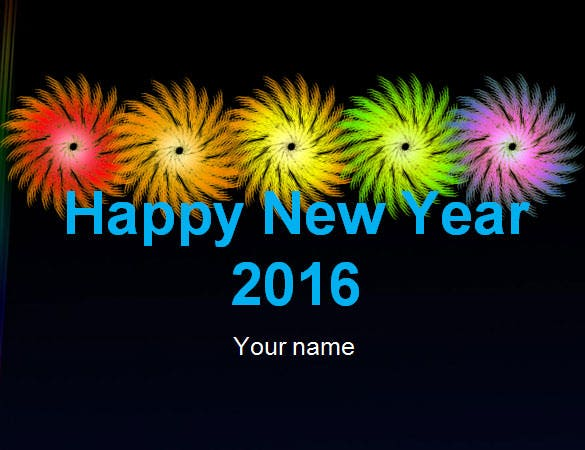happy new year wishing powerpoint template ppt