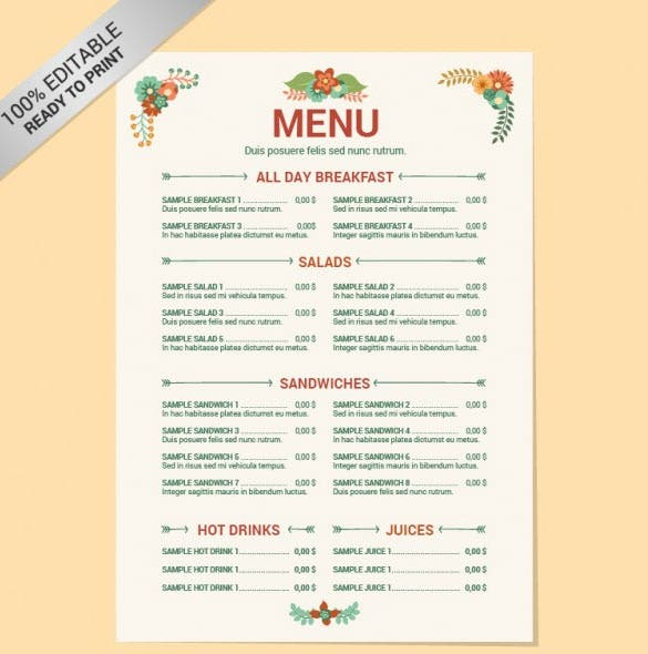 New year menu templates free psd eps illustrator