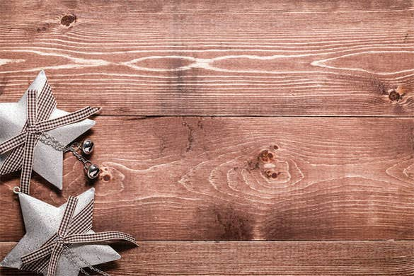 new year decorations on wooden background download