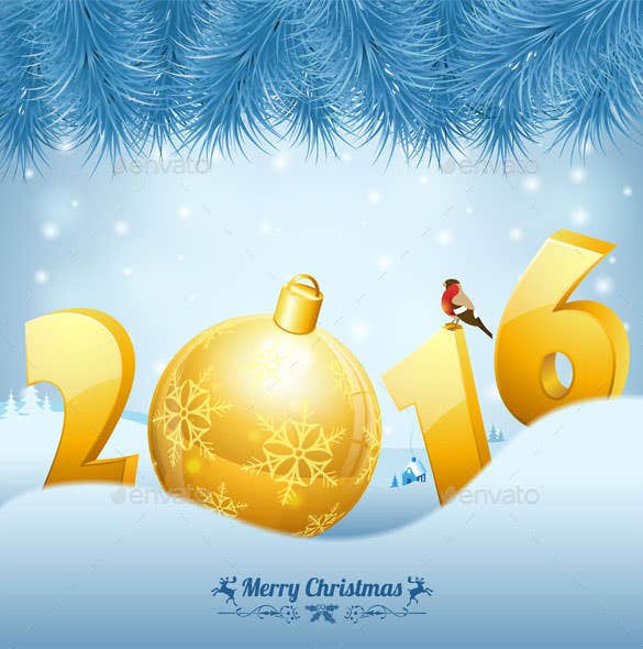 new year background with christmas wishes download