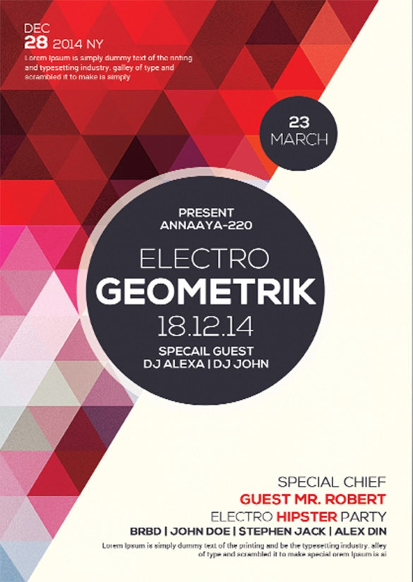 24+ Geometric Flyer Templates – Free PSD, EPS, AI, InDesign, Word ...
