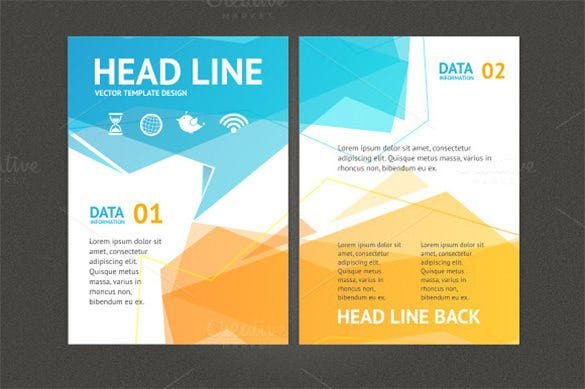 Geometric Flyer Templates Free PSD EPS AI InDesign Word - Brochure flyer templates