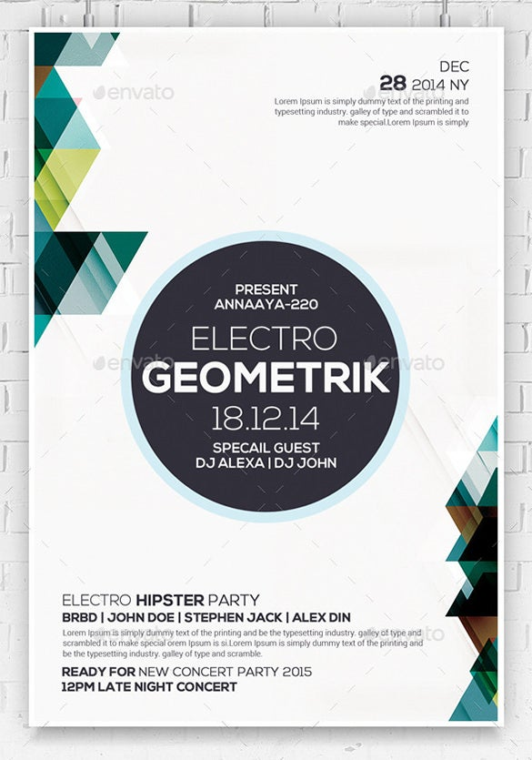geometric flyer psd template