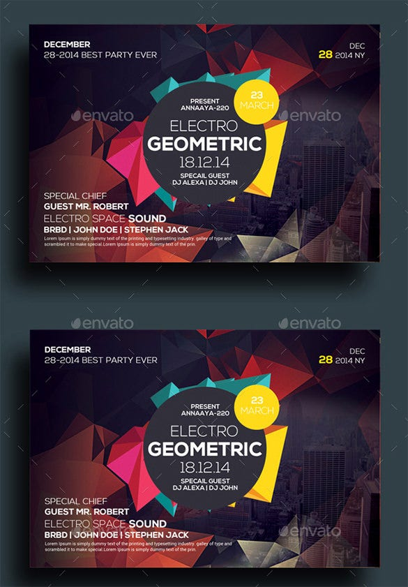 geometric city flyers bundle