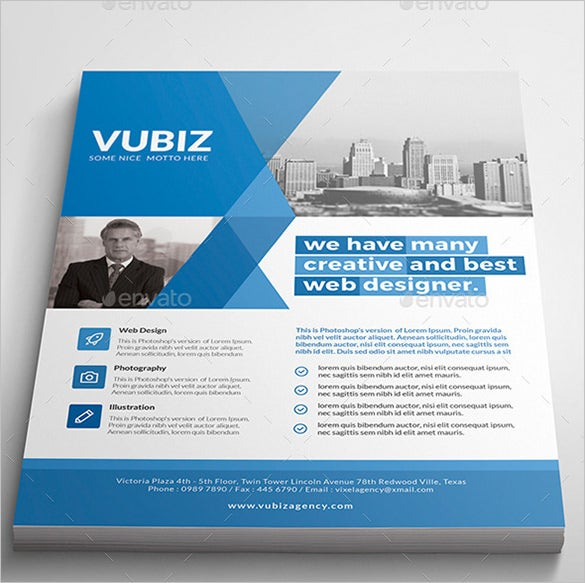 vubiz geometric corporate flyer