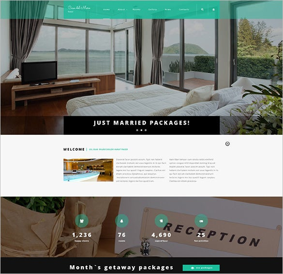 hotel suite joomla blog template