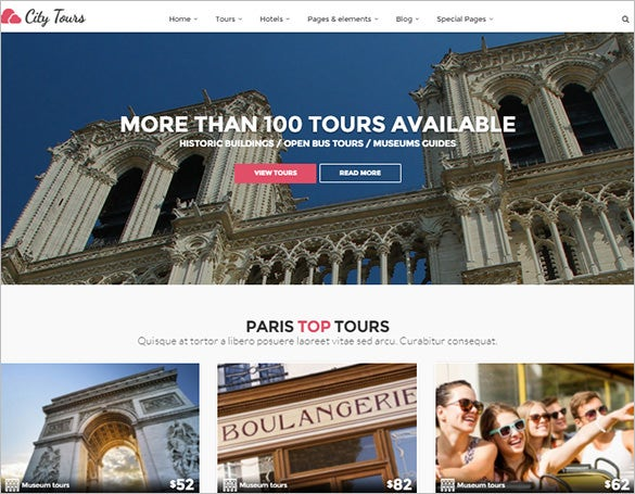 hotel tour booking wordpress blog theme
