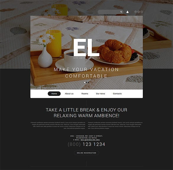 city hotel joomla blog template