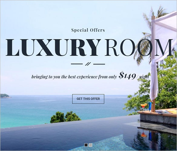 responsive hotel wordpress blog theme