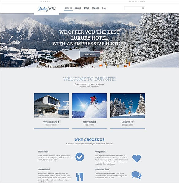rocky hotel wordpress blog theme