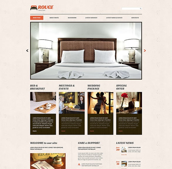 hotels responsive wordpress blog theme