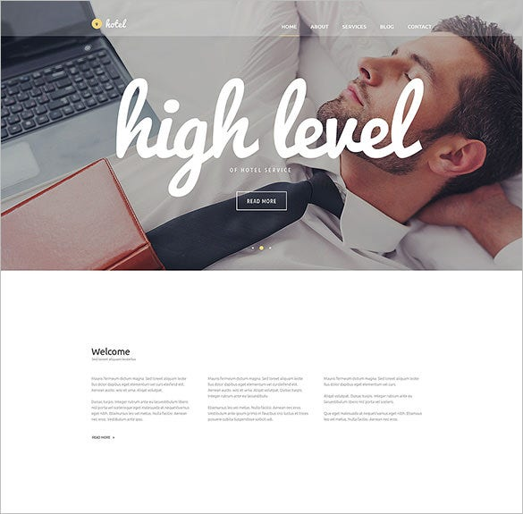 hotel business wordpress blog theme