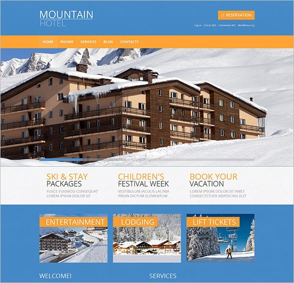 hotels wordpress blog theme download