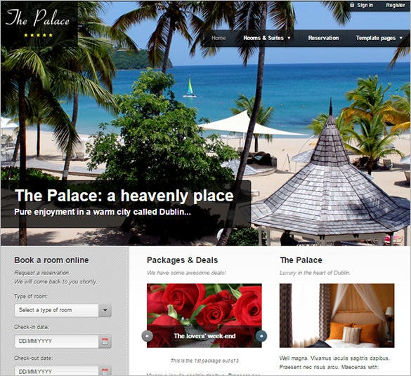 hotel business html theme