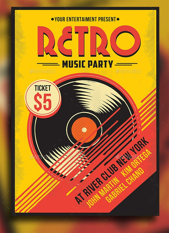 29  music flyer templates