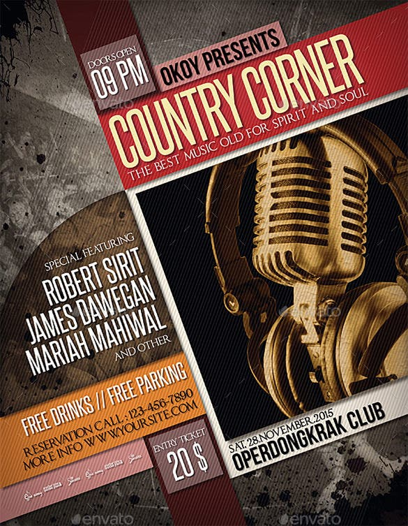 Country Music Flyer Poster