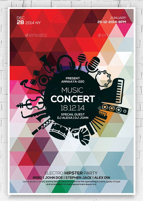 23 music flyer templates ms word publisher apple pages psd