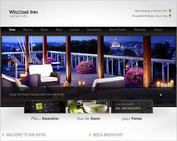welcome inn spa ski resort html theme