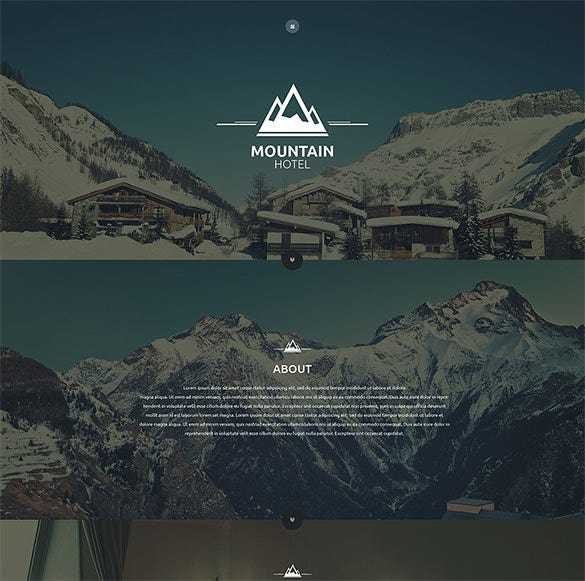 mountain hotel html5 template download