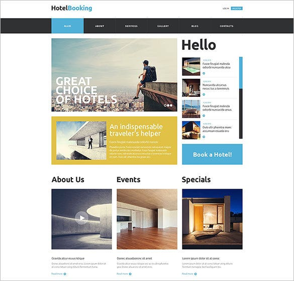 hotel booking website html5 template