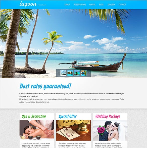 hotels responsive website html5 template