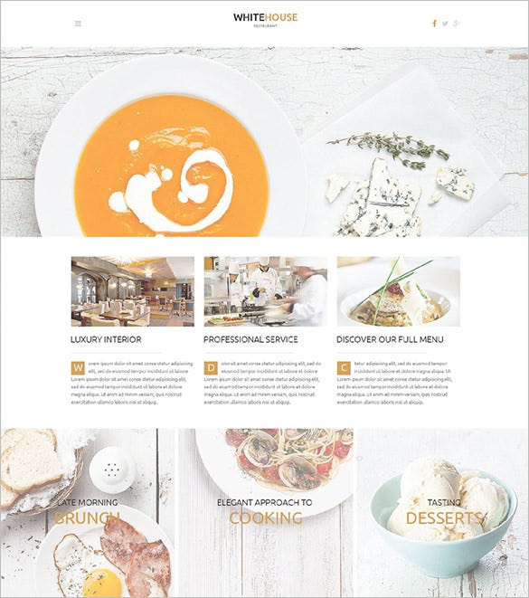 cafe and restaurant php wordpress theme