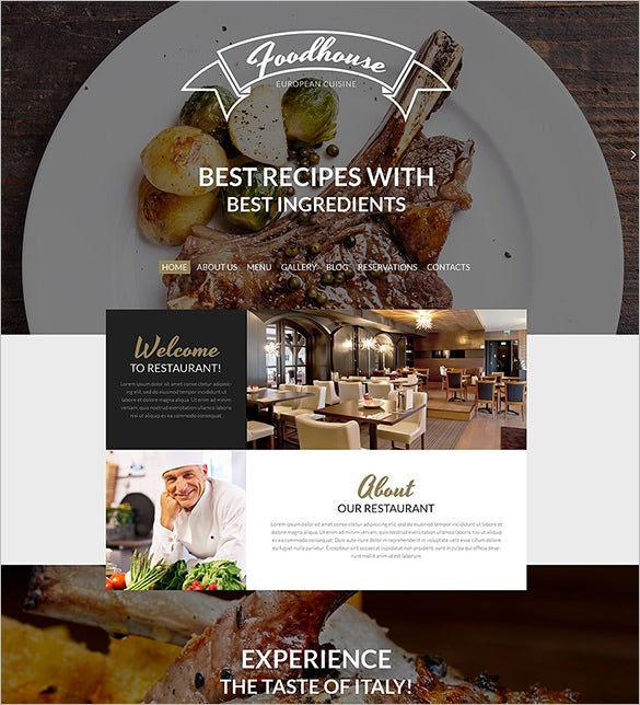 beautiful restaurant php wordpress theme