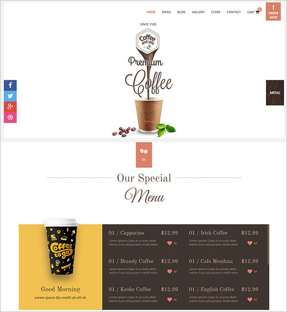 multi page restaurant php html5 template