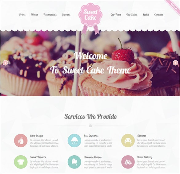 sweet cake restaurant php html template