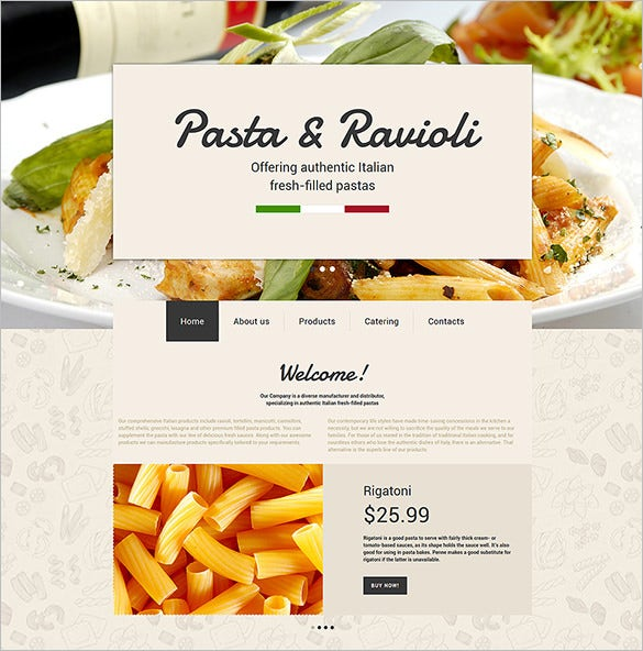 italian restaurant bootstarp website theme