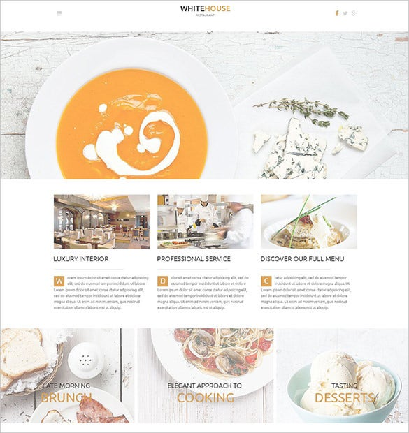 simple restaurant wordpress bootstrap theme