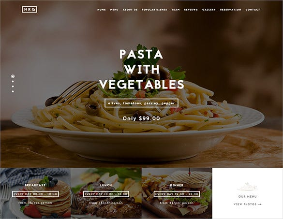 premium restaurant drupal bootstrap template
