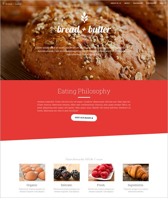 premium responsive restaurant bootstrap theme