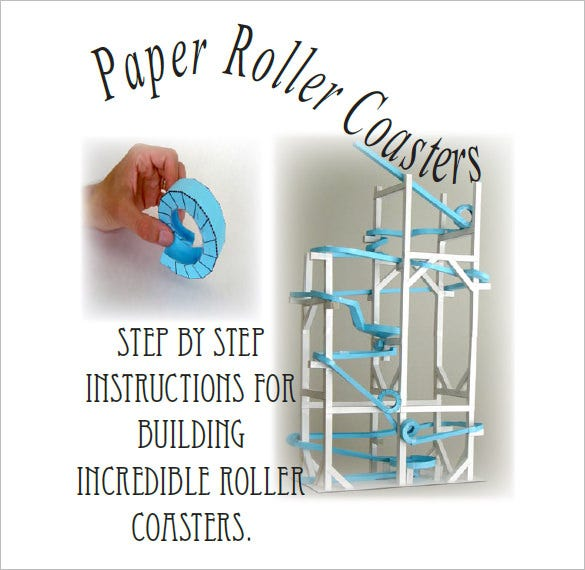 manual paper roller coaster template pdf download