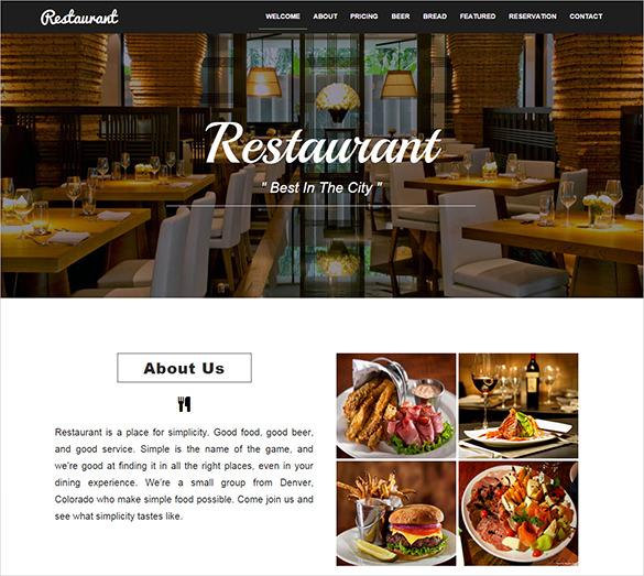 21 restaurant bootstrap themes templates free premium templates free restaurant bootstrap html5 theme maxwellsz