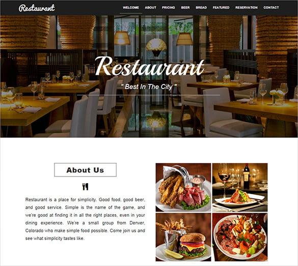 20+ Restaurant Bootstrap Themes & Templates | Free & Premium Templates