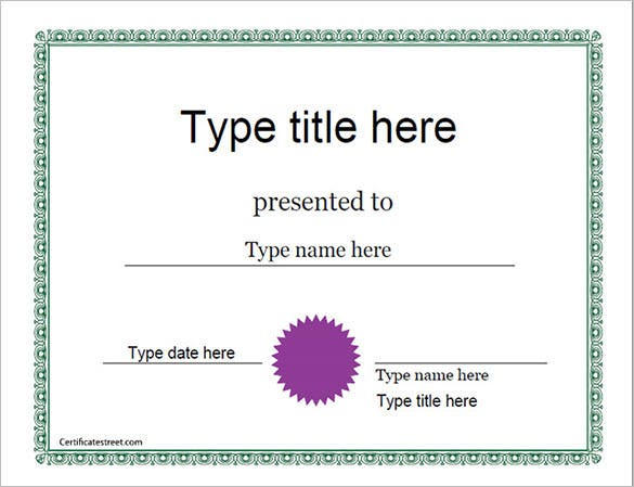 blank eexcellence award certificate template download