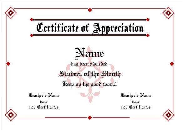 certificate of appreciation online editable