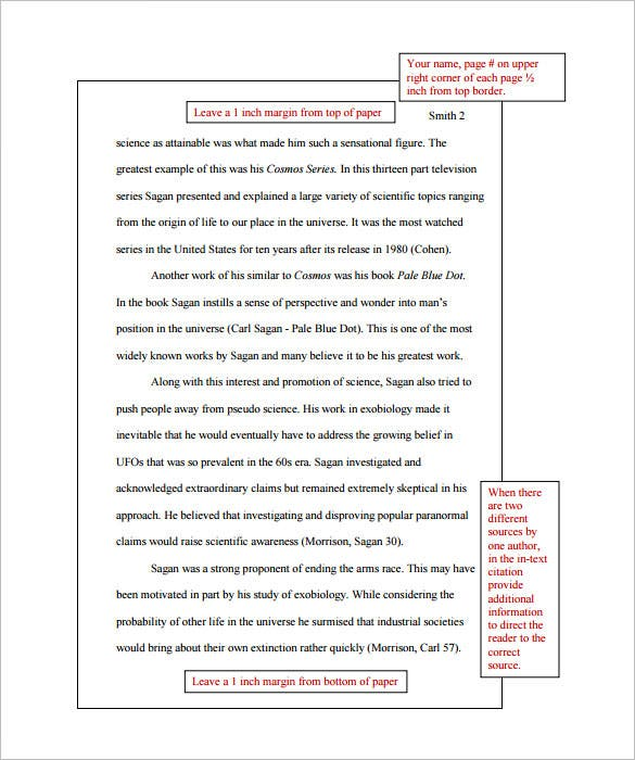 MLA Style Research Paper Template PDF Printable Download  Note Paper Template For Word
