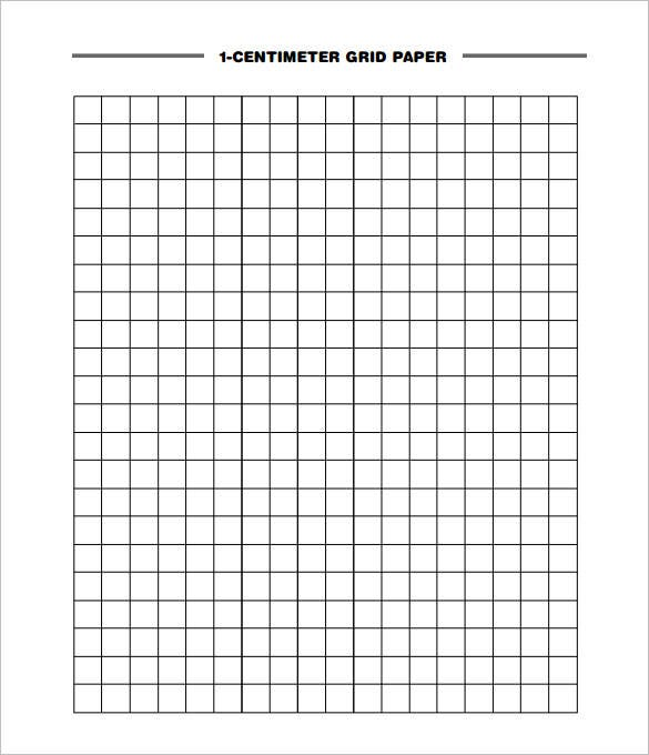 1 Centimeter Grid Graph Paper Template PDF Download  Grid Paper Template