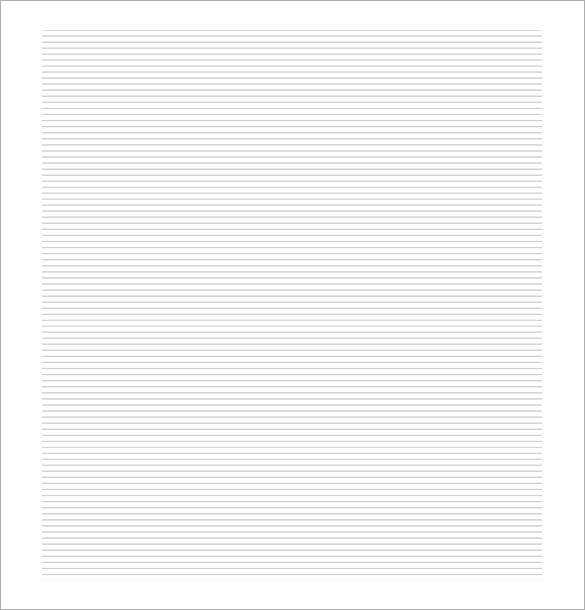 printable lined paper pdf template pdf download