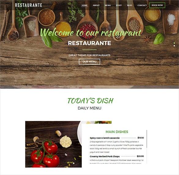 splendid restaurant bootstrap template