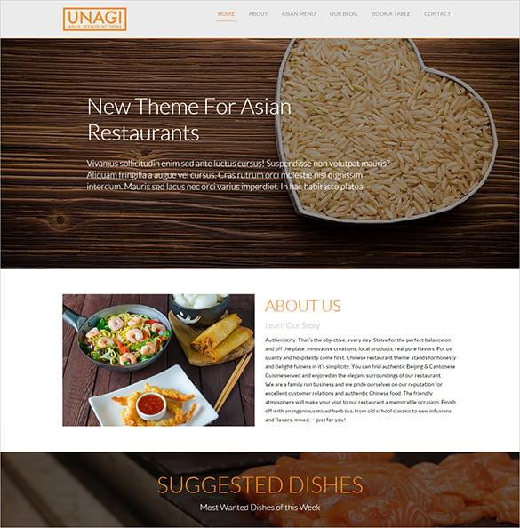 chineset restaurant bootstrap theme