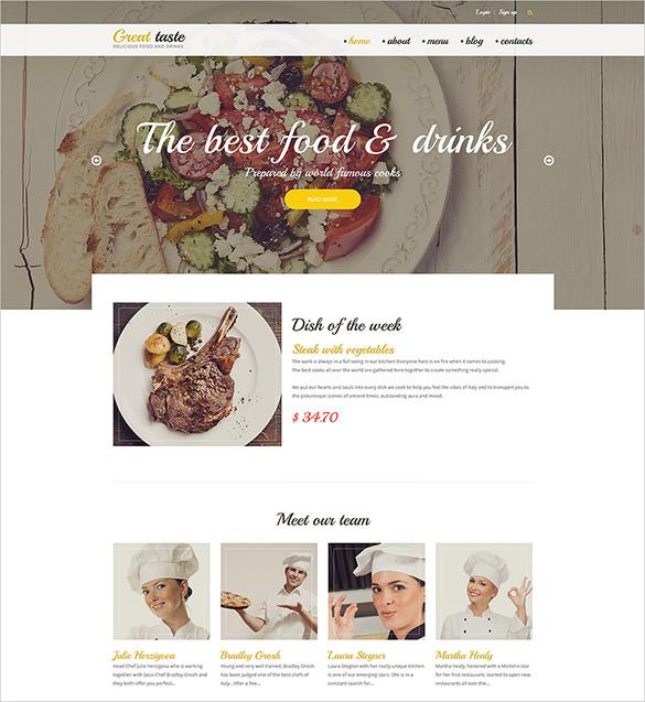 tasty restaurant drupa blog template