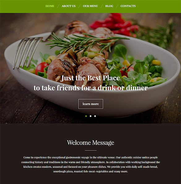 premium restaurant wordpress blog them