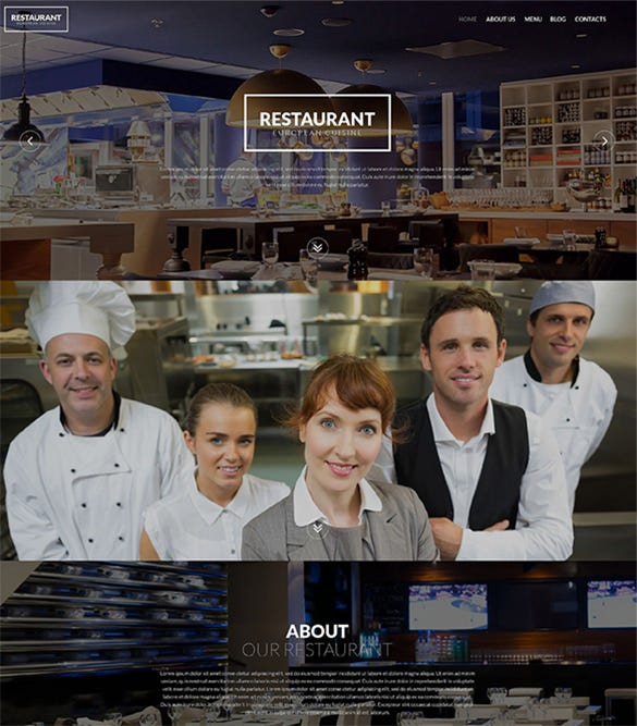 european restaurant wordpress blog theme