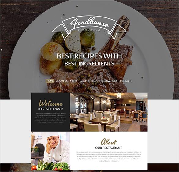 restaurant wordpress blog template