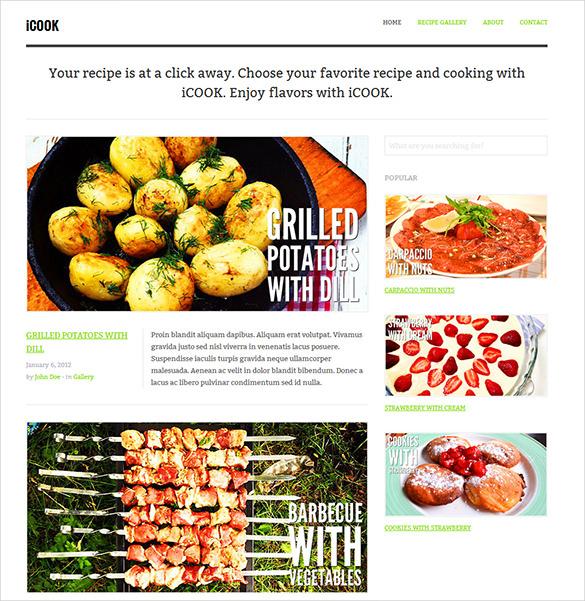 food restaurant responsive blog html theme